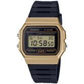 Casio F91WM-9AEF Unisex Casual Digital Watch | Black Rubber Strap | Gold Plated Case