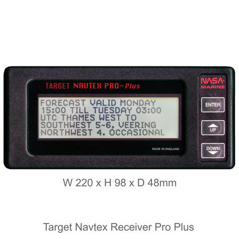 NASA Marine Target Navtex Pro Plus Receiver with H Vector Antenna | For Marine Thumbnail 2