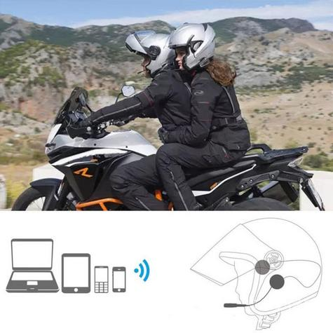 Cardo Scala Freecom 4 Duo Bluetooth Headset |  4 Way Motorcycle / Bike Helmet Intercom Thumbnail 5
