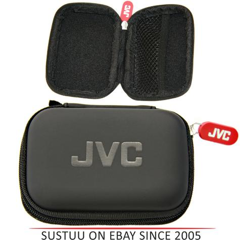 JVC HPCASE Compact Hard Carry Case With Internal Pocket for Earphones - Black Thumbnail 1