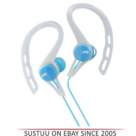 JVC HAECX20B In-Ear Pivot Motion Ear Clip Splash Proof Sports Headphones - Blue Thumbnail 1
