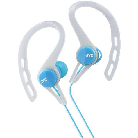JVC HAECX20B In-Ear Pivot Motion Ear Clip Splash Proof Sports Headphones - Blue Thumbnail 2