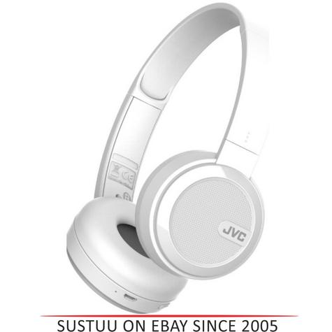 JVC HAS40BTWE Foldable Headphones /  Wireless Bluetooth /  Rechargable / - White Thumbnail 1