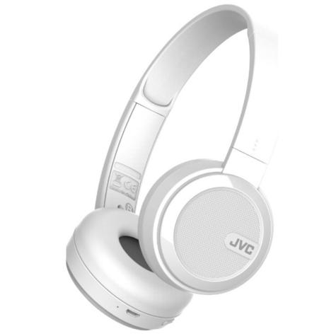 JVC HAS40BTWE Foldable Headphones /  Wireless Bluetooth /  Rechargable / - White Thumbnail 2