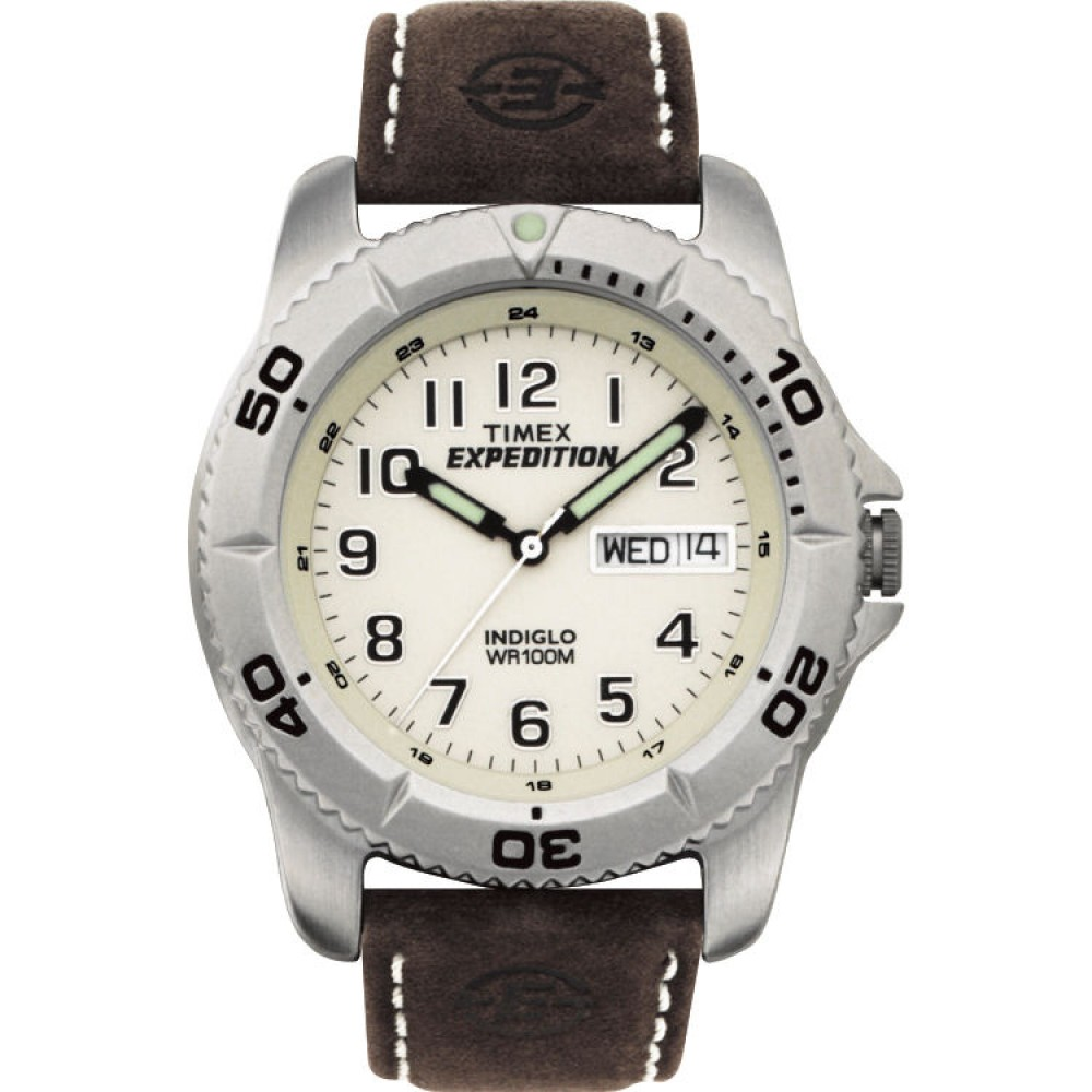 Timex Men's Expedition Traditional Watch with Rugged Brown Strap - T46681