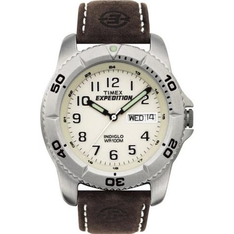Timex Men's Expedition Traditional Watch with Rugged Brown Strap - T46681 Thumbnail 1