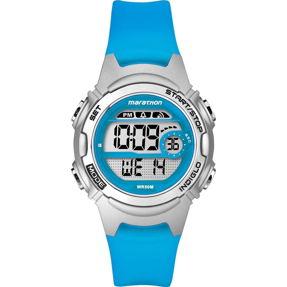 Timex TW5K96900 Childrens Marathon Watch|Blue Resin Rubber Strap|Chronograph|NEW