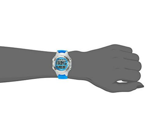 Timex TW5K96900 Childrens Marathon Watch|Blue Resin Rubber Strap|Chronograph|NEW Thumbnail 2