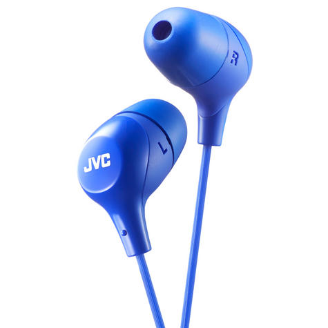 JVC HAFX38A Marshmallow Custom Fit Powerful Sound In-Ear Headphones - Blue Thumbnail 3