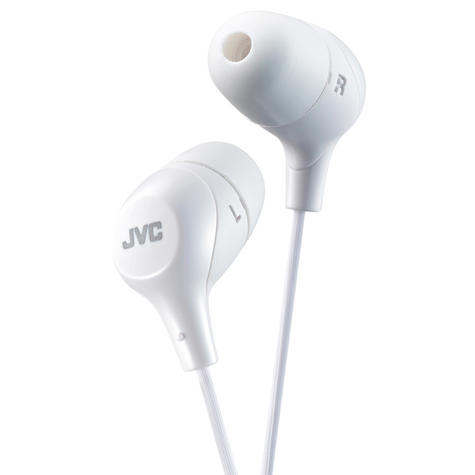 JVC HAFX38W Marshmallow Custom Fit Powerful Sound In-Ear Headphones - White Thumbnail 2