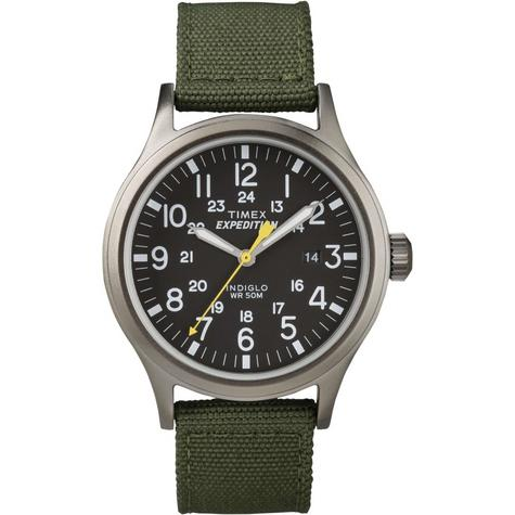 Timex T49961 Mens Expedition Watch|Indiglo Night Light|Date|Nylon strap - Green  Thumbnail 1