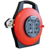 Infapower X812 New Enclosed Drum|4 Socket|13 Amp|10 Mtr|Tough Plug|Rotate Handle