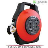 Infapower X813 4 Socket 15 Metre Shockproof Enclosed Extension Cable Drum / Reel