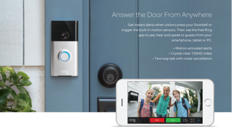 Ring Smart Video Doorbell?Built-in Wi-Fi & Camera?Water Resistance?Motion Sensor Thumbnail 2