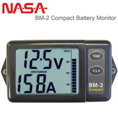 NASA Marine BM2 COMPACT Battery Monitor - 12VDC with 200AMP Shunt & 5M Cable Thumbnail 1