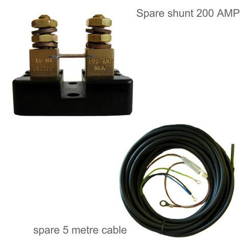 NASA Marine BM2 COMPACT Battery Monitor - 12VDC with 200AMP Shunt & 5M Cable Thumbnail 3