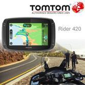 TomTom Rider 420|Motorcycle GPS-SatNav Navigation|Bluetooth|*Lifetime EU Map+Traffic+Camera Alerts