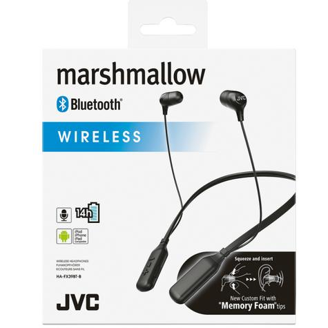 JVC Marshmallow In Ear Neckband Sports Wireless Bluetooth Headphones - Black Thumbnail 3