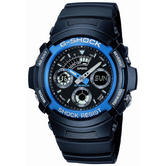 Casio AW-591-2AER G-Shock Combination Sports Wrist Watch / Blue Band / Shock Resist