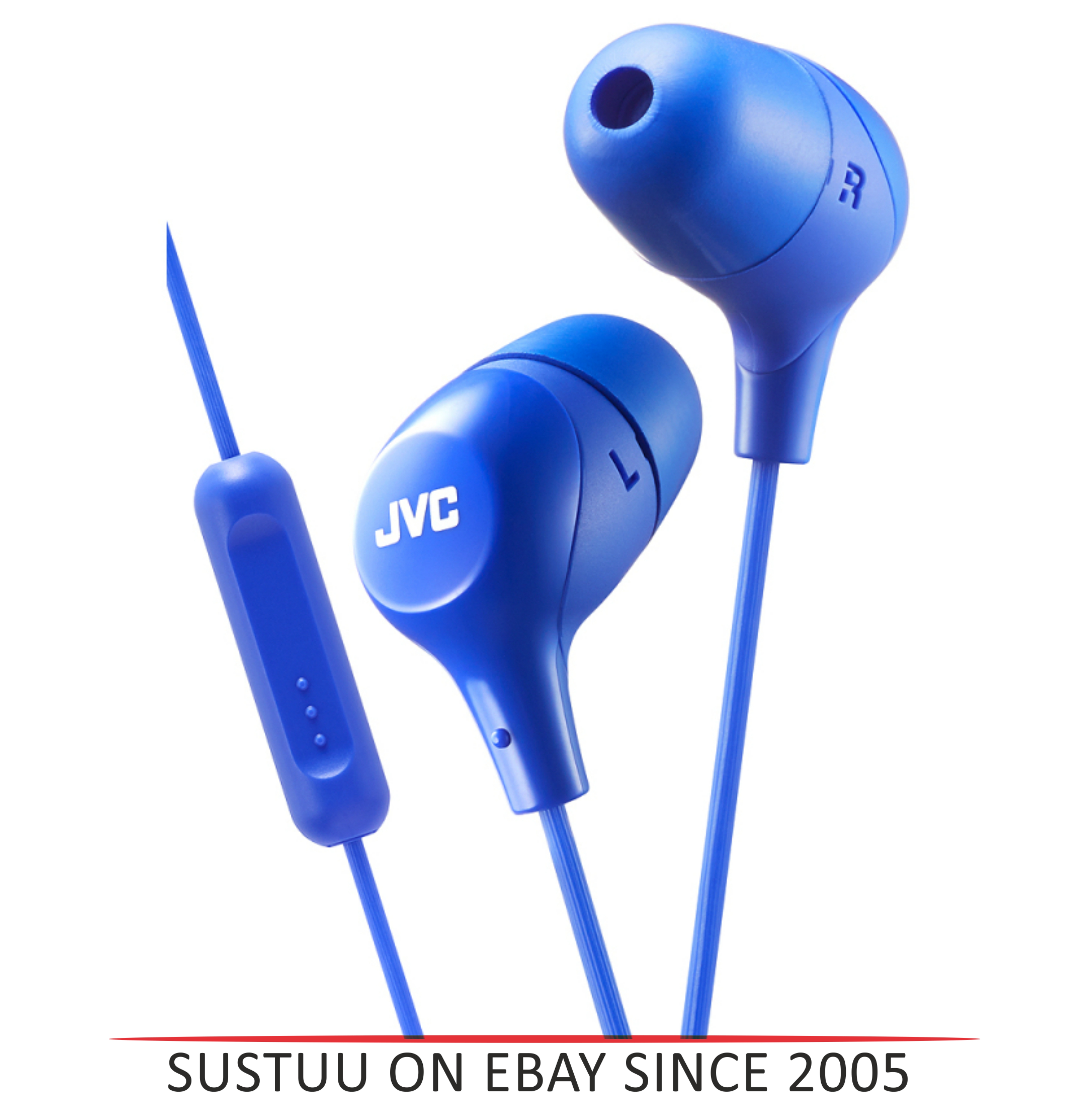 JVC Marshmallow Fit In-Ear Headphone With Remote & Mic for iPhone/Android - Blue