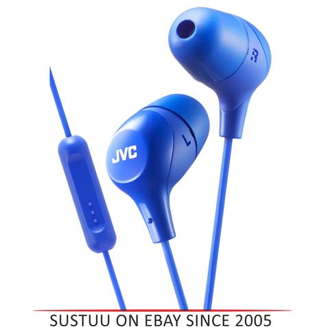 JVC Marshmallow Fit In-Ear Headphone With Remote & Mic for iPhone/Android - Blue Thumbnail 1