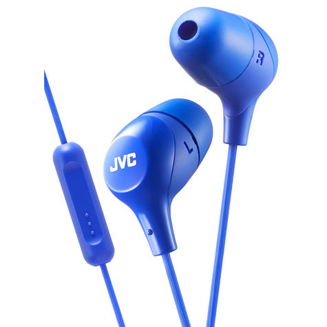 JVC Marshmallow Fit In-Ear Headphone With Remote & Mic for iPhone/Android - Blue Thumbnail 2
