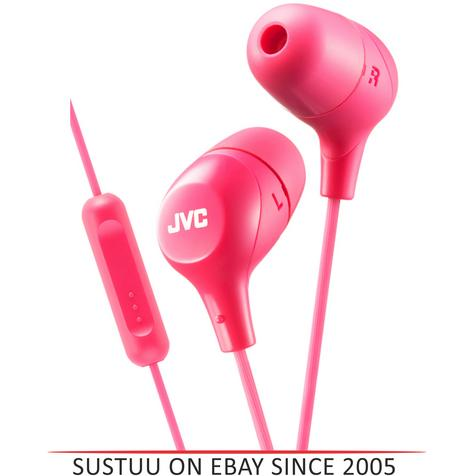 JVC HAFX38MP Marshmallow Custom Fit In-Ear Headphones With Remote & Mic - Pink  Thumbnail 1