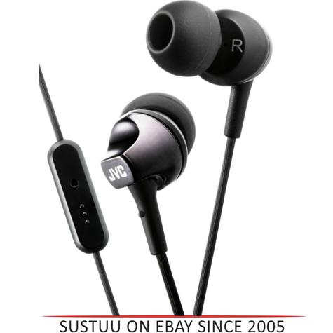 JVC HAFR325B Premium Sound In Ear Headphones With Remote And Mic / Smart - Black Thumbnail 1
