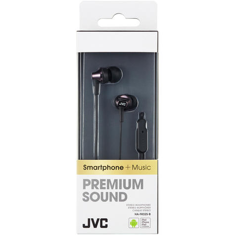 JVC HAFR325B Premium Sound In Ear Headphones With Remote And Mic / Smart - Black Thumbnail 3