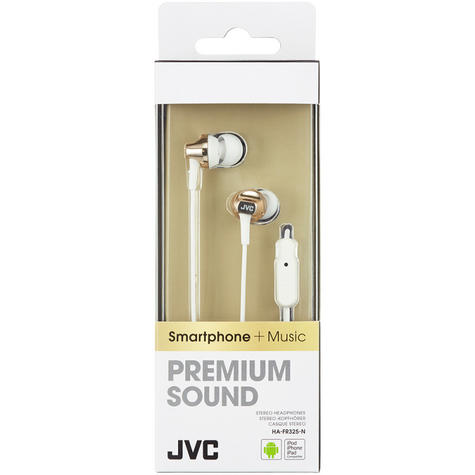 JVC HAFR325N Premium Sound Inner Ear Headphones With Remote And Mic - Gold Thumbnail 3