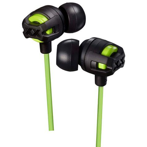 JVC HAFX103MG Xtreme Xplosives In Ear Bass Headphones With Mic & Remote - Green Thumbnail 2