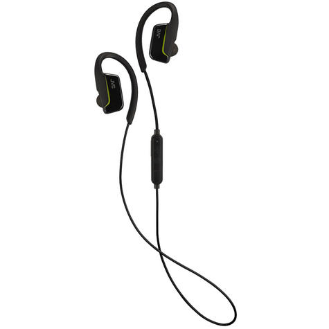 JVC HAEC30BTB  AE Wireless Bluetooth Sports Clip Waterproof Headphones - Black Thumbnail 1