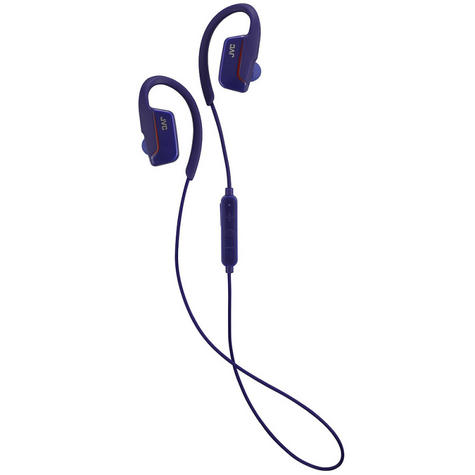 JVC HAEC30BTA  AE Wireless Bluetooth Sports Clip Waterproof Headphones - Blue Thumbnail 3