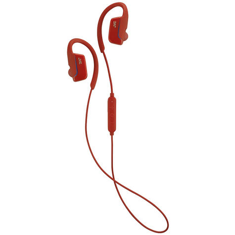JVC HAEC30BTR  AE Wireless Bluetooth Sports Clip Waterproof Headphones - Red Thumbnail 2