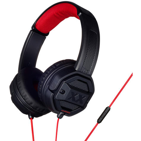 JVC HASR50XB Dual Extreme Bass Ports On Ear Headphones with Remote & Mic - Black Thumbnail 2