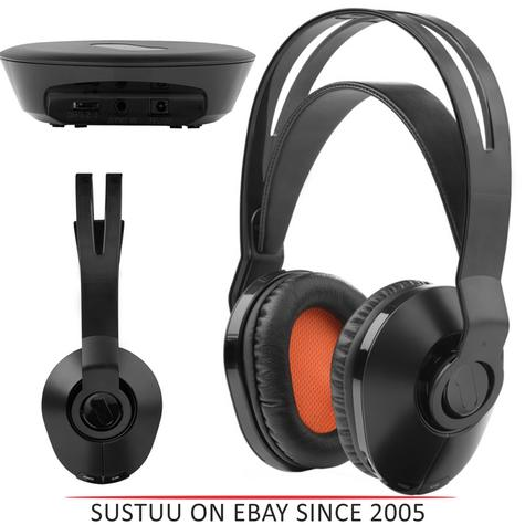 One For All HP1020 Wireless TV Headphones|On Ear|100m Range|Suit For iPod / iPad Thumbnail 1