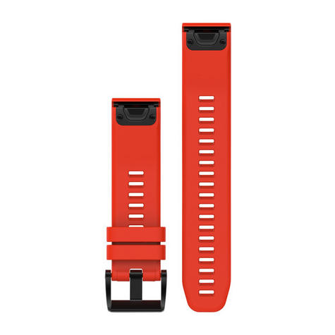 Garmin Quickfit 22 Watch Strap Band | For Approach S60-Forerunner 935 | Red Silicone Thumbnail 2