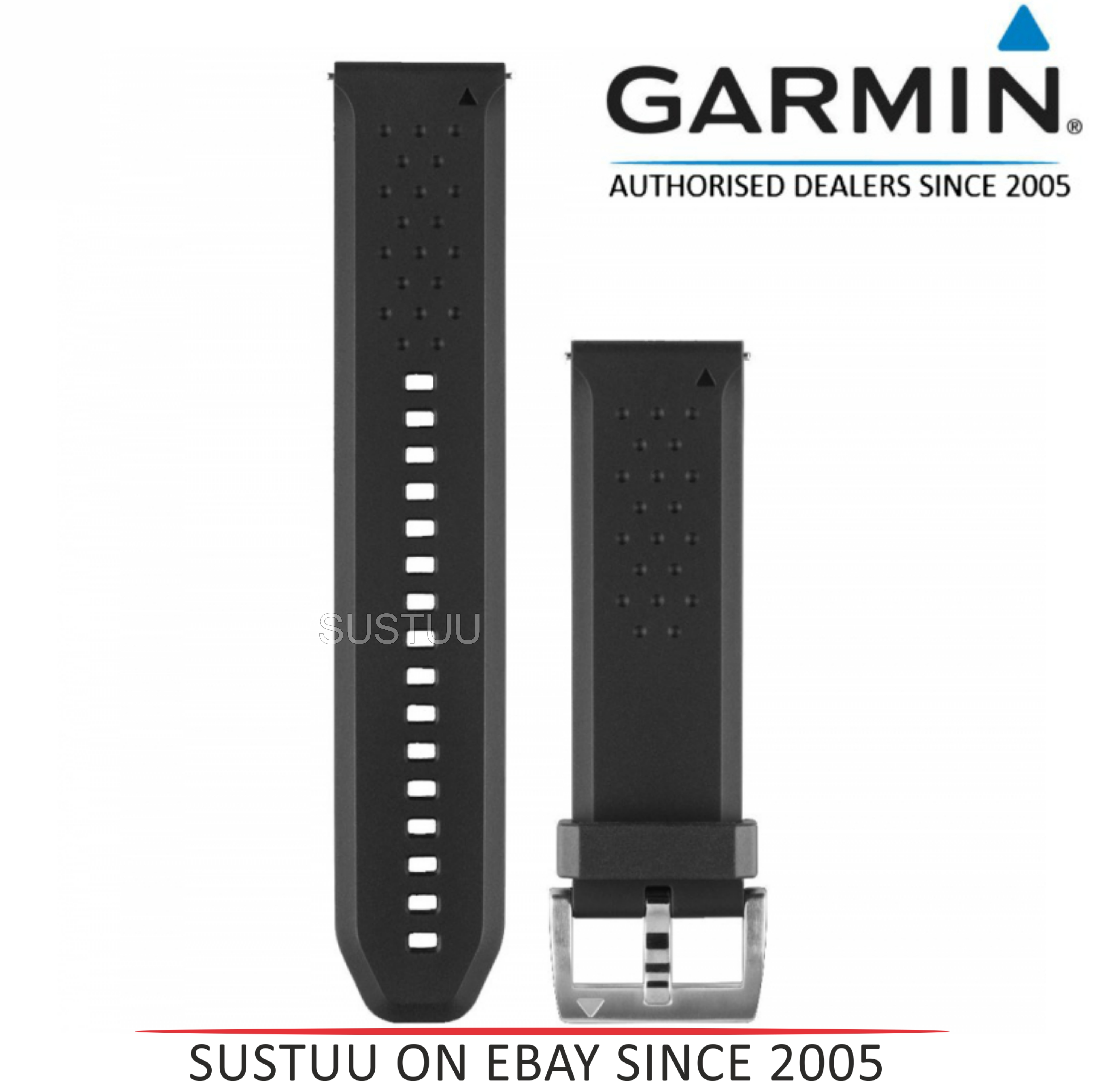 Garmin 010-12419-04?Replacement Smart Watch Strap Band?Fenix Chronos?Silicone-B