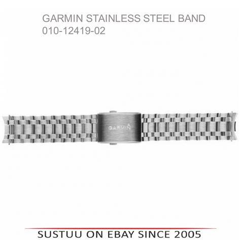 NEW Garmin 010-12419-02|Wrist Watch Strap Band|Stainless Steel|For Fenix Chronos Thumbnail 3
