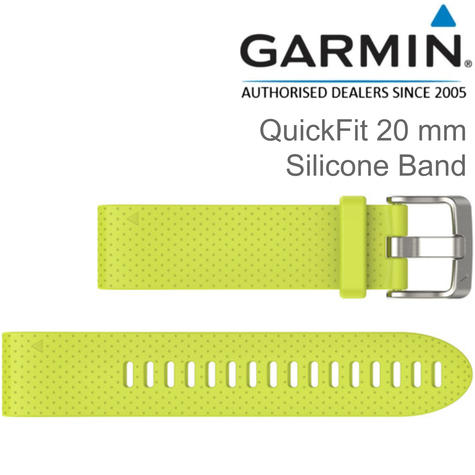 Garmin Quickfit Watch Strap Band | For D2 Delta S-Fenix 5S/5S Plus | Silicone | 20 mm Thumbnail 1