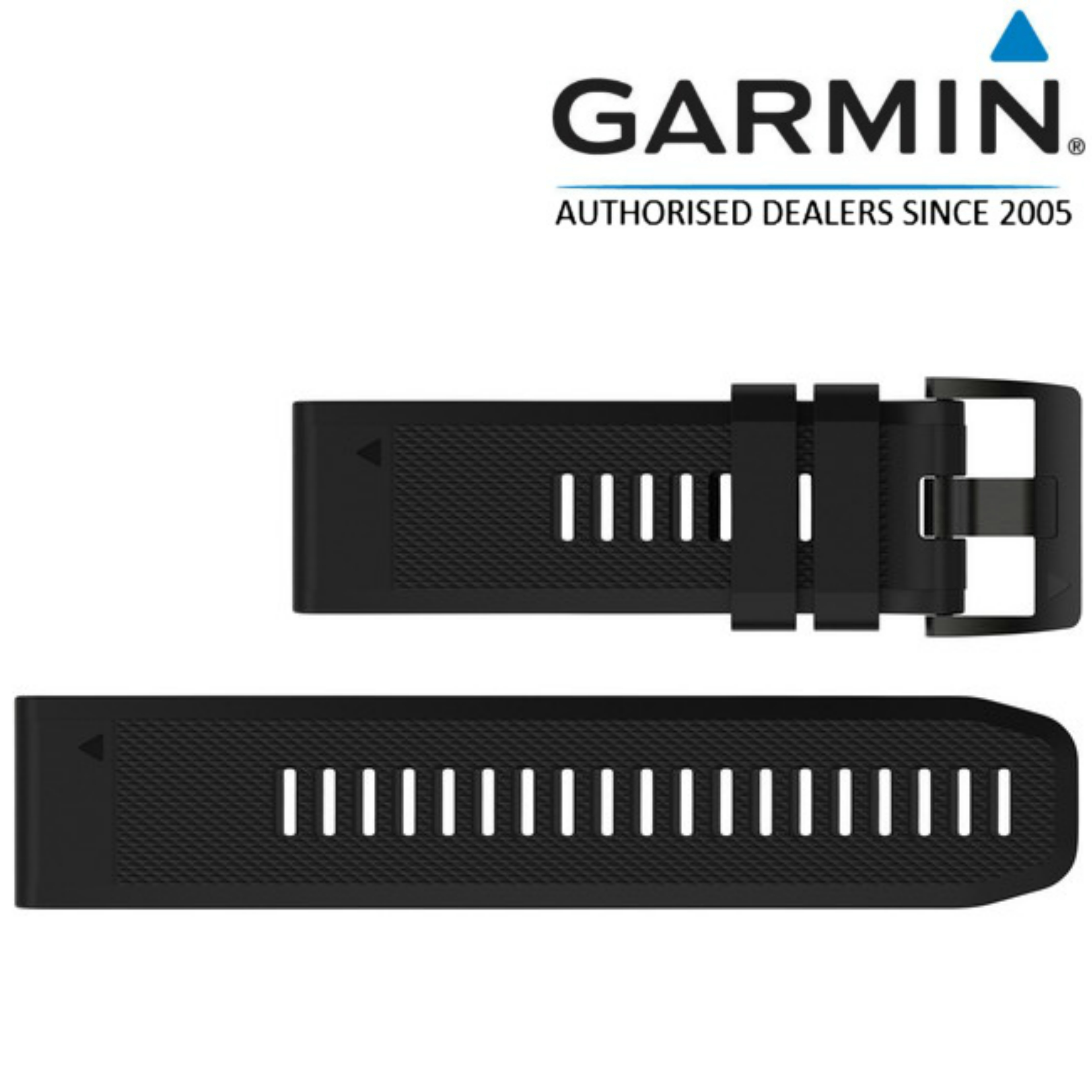 Garmin 010-12517-00 Quickfit 26mm Black Silicone Watch Band For Quatix 3/Fenix 3