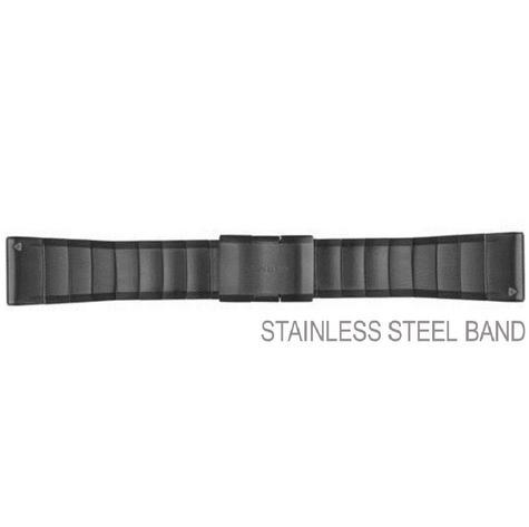 Garmin 010-12517-05 26mm QuickFit Fenix 3/5 Quatix Tactix Gray Steel Watch Strap Thumbnail 2