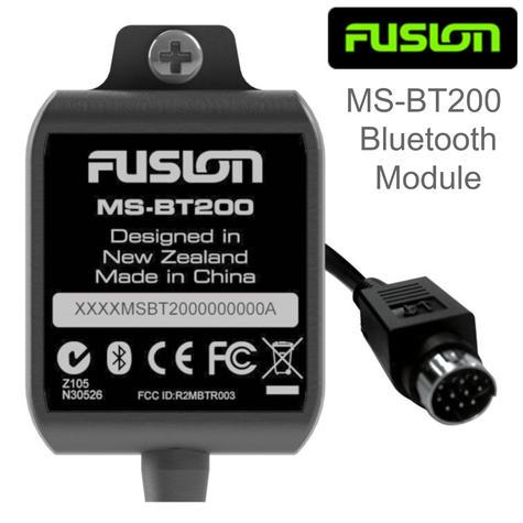 Fusion MS-BT200 Marine Bluetooth Receiver Module | IP65 | For MS-RA205 / 700 Series Thumbnail 1