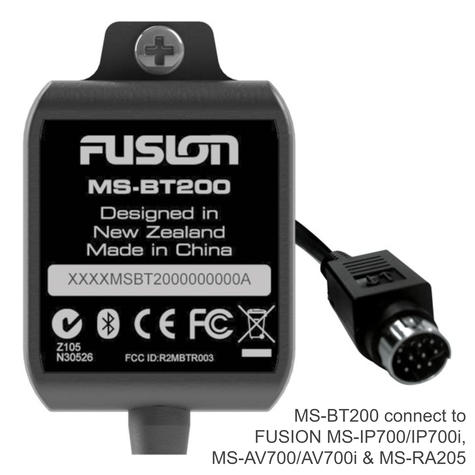 Fusion MS-BT200 Marine Bluetooth Receiver Module | IP65 | For MS-RA205 / 700 Series Thumbnail 2