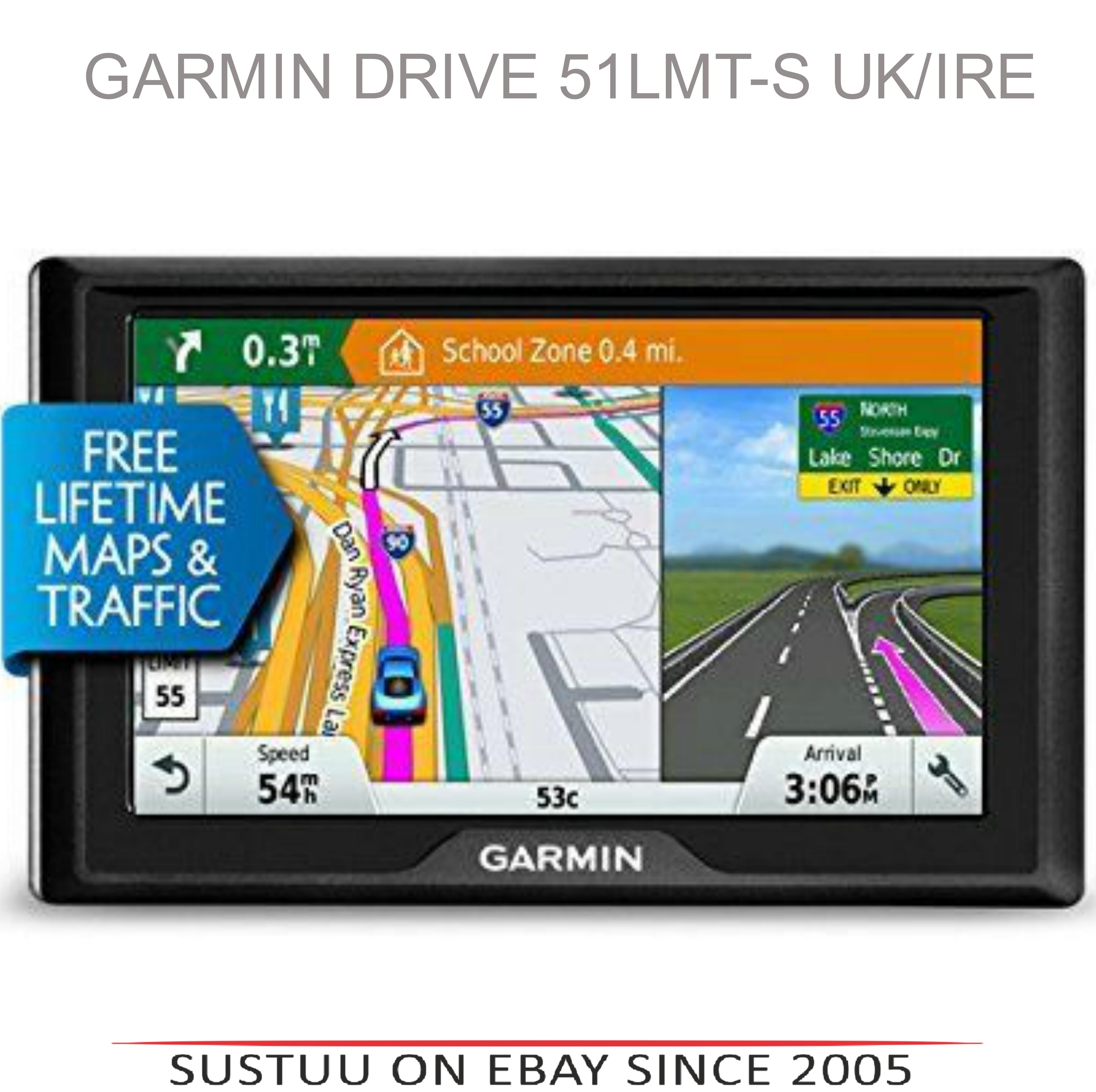 "Garmin 010-01678-32 5"" Drive 51LMT-S Lifetime Maps UK/IRE Navigation GPS Sat Nav"
