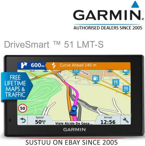 "Garmin DriveSmart 51LMT-S EU|5"" GPS SatNav|Wi-Fi|Bluetooth|Lifetime Maps+Alerts Thumbnail 1"