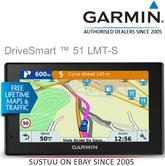 "Garmin DriveSmart 51LMT-S EU|5"" GPS SatNav|Wi-Fi|Bluetooth|Lifetime Maps+Alerts"