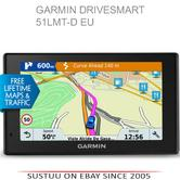 "Garmin 010-01680-13 5"" GPS Satnav Free Lifetime Maps & Traffic Drivesmart - EU"