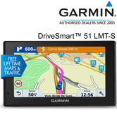 "Garmin DriveSmart 51 LMT-S 5"" GPS Sat Nav 