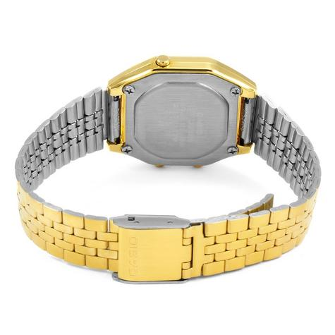 Casio LA-680WEGA-9BER Ladies Gold Plated Digital Watch / Gold Case / Black Dial / NEW /  Thumbnail 4
